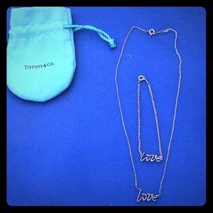 💯% Authentic Used Tiffany & Co Love Necklace
